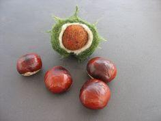 Wichtelzwerg: Herbstfrüchte oder wie ich Kastanien filzen
