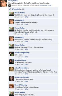 Hogwarts Sex- Ed 4 by HarmoniousSilence on DeviantArt Harry Potter Texts, Harry Potter Comics, Harry Potter Ships, Harry Potter Anime, Harry Potter Universal, Drarry, Dramione, Harry Potter Draco Malfoy, Harry Potter Collection