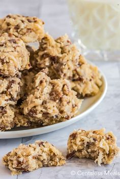 Coconut pecan cookies are a chewy homemade sweet treat that is perfect for summer. Made with shredded coconut and chopped pecans these easy cookies are made even better by being no-bake! #centslessmeals #coconutpecancookies #nobake #cookierecipe #dessert Coconut Pecan Cookie Recipe, Pecan Cookie Recipes, Coconut Recipes, Candy Recipes, Coconut Cookies, Coconut Balls, Cookie Desserts, Free Recipes, Dessert Recipes