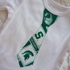 Michigan State University Spartans Tie Onesie / T by ThisPretty, $19.95