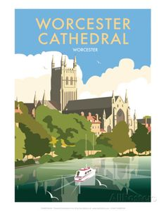 size: Giclee Print: Worcester Cathedral - Dave Thompson Contemporary Travel Print by Dave Thompson : Artists This exceptional art print was made using a sophisticated giclée printing process, which deliver pure, rich color and remarkable detail. Worcester Cathedral, Digital Printer, Poster Prints, Art Prints, Ways Of Seeing, Vintage Travel Posters, Cool Posters, State Art, Wall Collage