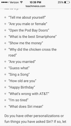 funny questions to ask siri iphone 6