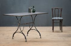 Vintage Ardenne Trestle Iron Table : Factory 20 factory20.com