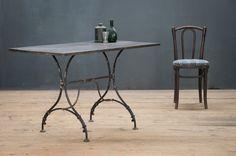 Vintage Ardenne Trestle Iron Table : Factory 20 factory20.com