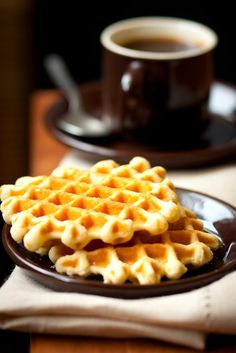 Spiced Sweet Potato Waffles. Replace sour cream with Greek yogurt, and use whole wheat or oat flour