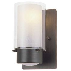 Essex Cylinder Wall Sconce by DVI Lighting | DVP9001ORB-BS