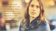#MarsQuotes by Jared Leto about #CityOfAngels