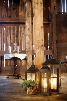 Lanterns Michigan Wedding at Witt's Inn by Kelly Sweet Metal Lanterns, Lanterns Decor, Candle Lanterns, Porch Lanterns, Lantern Lighting, Bougie Partylite, Gazebos, Log Homes, Rustic Decor