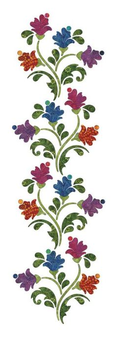 New Embroidery Flowers Designs Quilt Blocks Ideas Hand Applique, Applique Quilts, Embroidery Applique, Embroidery Patterns, Machine Embroidery, Flower Applique Patterns, Applique Ideas, Machine Quilting Patterns, Quilt Patterns