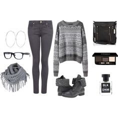 """""""Just Gray"""" by chamar on Polyvore. I'm not sure why but i love grey :)"""