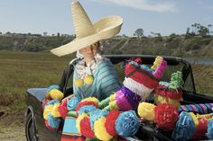 """1950s-Style """"Mexicali Folk Couture"""" Tourist Poncho & Skirt by Mr. Tiny for thewackytacky.blogspot.com    http://thewackytacky.blogspot.com/2016/12/sew-what-mexicali-folk-couture-strikes.html?m=  Photo: Fabian Fioto"""