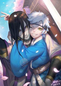 Orochimaru and Mitsuki. Omg seeing Orochimaru as a dad is so weird 0-0