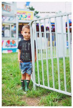 The Gosling  Toddler/Child Hey Girl Tee  Screen door KindredOAK