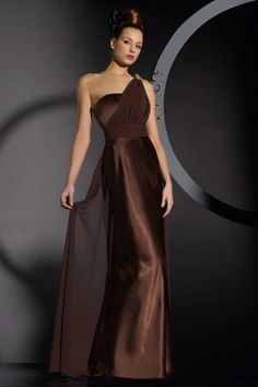The most perfect bridesmaid dress ever. Of course, I want my bridesmaids in gold or brown. and I love the cloth drape. Its perfect