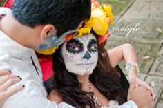 Day of the Dead inspired bridal photo shoot | Orlando Wedding Vendors | In Style Imagery | Michele Butler Events | Lee Forrest Design | Marigold Scott
