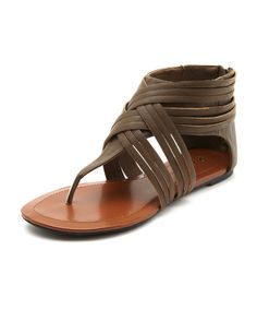 Woven Zip-Back Gladiator Sandal  these are at charlotte russe, stone briar mall, collin creek, or website. they have other clothes and shoes too