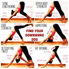 Yoga tutorial for Downward Dog - 6 variations of downward facing dog. @miss_sunitha #sunithalovesyoga