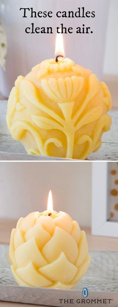 Bring some all-natural light to the table with unique beeswax candles. Big Dipper Candles are handmade in the USA from pure beeswax, which casts a soft, golden glow when lit. The aroma is very light and natural, and they last a surprisingly long time. Unlike other candles, these burn cleanly, and are non-toxic, non-allergenic, and soot-free. While burning, they release negative ions—which actually reduces pollutants and helps clean the air.