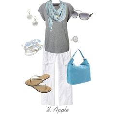 """Cloudy Skies"" by sapple324 on Polyvore"
