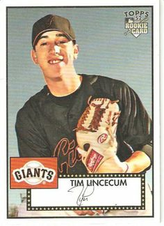 2007 Topps 52 (1952 Rookie Edition) # 130a Tim Lincecum RC (RC - Rookie Card) - San Francisco Giants - MLB Baseball Trading Card - Shipped in a Protective Display Case! by Topps. $9.99. Great Looking Card with the Official MLB Rookie Logo