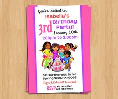 Dora and Friends Into The City Birthday Party Invitation - Custom, Personalized