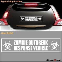 ZOMBIE RESPONSE VEHICLE Zombieland Bumper Sticker Decal. $6.99, via Etsy.