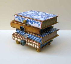 Stack of books jewelry box