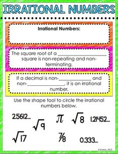 Worksheets Rational Vs Irrational Numbers Worksheet we all know that rational and irrational numbers together are digital interactive math notebook