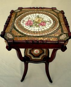 Green and Gold Mosaic Table