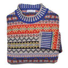 ERIBÉ College Fair Isle Sweater Oatmeal – folded