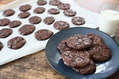 Glutenfrie sjokoladecookies Sweet Tooth, Gluten Free, Sweets, Cookies, Baking, Diy, Glutenfree, Crack Crackers, Gummi Candy