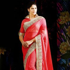 Looking for latest designer party wear sarees or traditional party wear sarees? Shop online from the party saree collection at Utsav Fashion for fancy party sarees. Party Wear Sarees Online, Party Sarees, Fancy Party, Saree Collection, Sari, Glamour, Rose, How To Wear, Stuff To Buy