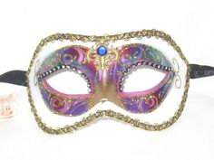 Venetian Masquerade Masks, Masquerade Costumes, Mardi Gras Party, Carnival, Venice, Blue, Stuff To Buy, Beauty, Beautiful