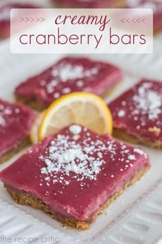 Best Cranberry Curd Bars With Walnut Shortbread Crust Recipe on ...