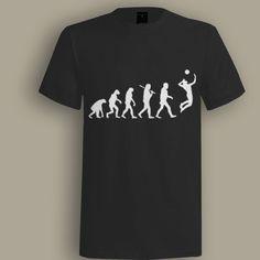 Evolution Volley Ball Black T shirt, T shirt for Men, Women, Girl, Boy, XS, S, M, L, XL, XXL, 3XL,  Size, Customized
