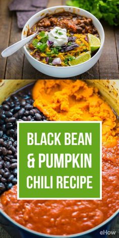 Black bean and pumpkin chili is exactly what you're missing! Combine these two vegetables to make the perfect veggie chili that is healthy, seasonal and hearty! Recip here: http://www.ehow.com/how_12343576_black-bean-pumpkin-chili-recipe.html?utm_source=pinterest.com&utm_medium=referral&utm_content=freestyle&utm_campaign=fanpage