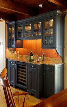 Kitchen Photos Built In Bar Design Ideas, Pictures, Remodel, and Decor - page 13 Kitchen Phot. Built In Buffet, Built In Bar, Built In Desk, Built Ins, Home Wet Bar, Bars For Home, Kitchen Desks, New Kitchen, Kitchen Cabinets