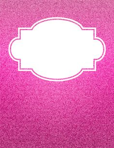 Free printable pink glitter binder cover template. Download the cover in JPG or PDF format at http://bindercovers.net/download/pink-glitter-binder-cover/