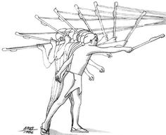 Not a weapon of choice but when you have nothing, you could make an Atlatl.