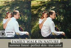 Family Preset Outdoor Portrait Preset Lightroom Skin Tones Wedding Lightroom Preset Photoshop Action Nicon VSCO True Color Preset Forest by CameraClick on Etsy