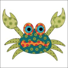 Looking for your next project? You're going to love Applique Add On's - Blue Crab by designer urbanelementz.