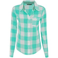 Camisa Xadrez Feminina em Algodão ❤ liked on Polyvore Camisa Xadrez 6d0be32986c