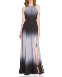 HALSTON HERITAGE Ombré Crepe Gown   Bloomingdale's