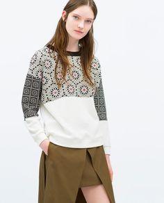 FLORAL PRINT T-SHIRT - Zara