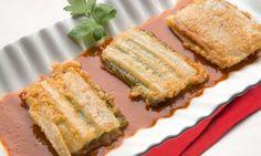Receta de Pencas rellenas con salsa vizcaína
