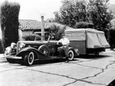 Camping in times past. [Damn, that looks like the way I'd like to hit the road today!]