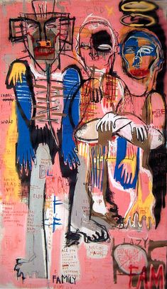 Title Unknown Family By La Based American Artist Gino Perez Via The Artist On See Me Reminds Me Very Much Of Jean Michel Basquiat Which Is Awesome