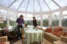 Insulated conservatory installations.