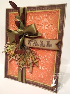 Distressed Fall Leaves Card...by inkyminky184 - cards & paper crafts at splitcoaststamper.