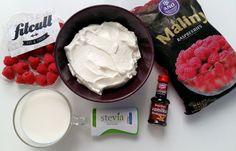 Zdravá jogurtovo-malinová zmrzlina plná bielkovín a takmer bez tuku (Recept) Stevia, Bourbon, Ice Cream, Fresh, Desserts, Food, Bourbon Whiskey, No Churn Ice Cream, Tailgate Desserts